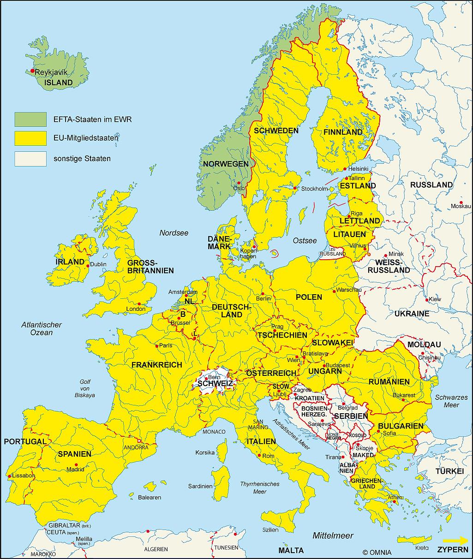 Landkarten von Europa  Weltkartecom  Karten und
